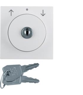 S.1/B.3/B.7 Płytka czołowa z zamkiem do łącznika żaluzjowego na klucz, biały Berker 1083190900