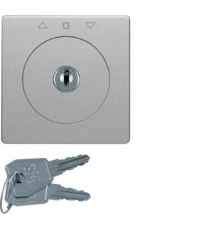 Q.x Płytka czołowa z kluczem do łącznika żaluzjowego na klucz alu, aksamit Berker 1083608400