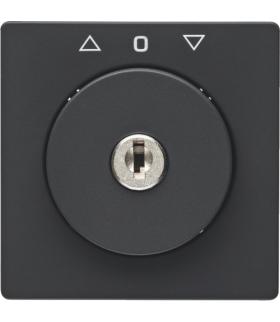 Q.x Płytka czołowa z kluczem do łącznika żaluzjowego na klucz antracyt, aksamit Berker 1083608600
