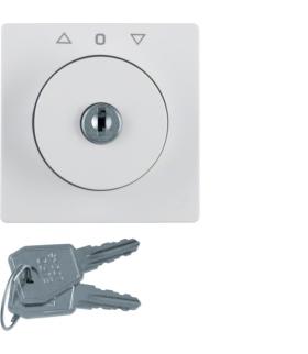Q.x Płytka czołowa z zamkiem do łącznika żaluzjowego na klucz, biały, aksamit Berker 1083608900