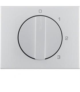 K.5 Płytka czołowa z pokrętłem do łącznika 3-pozycyjnego z pozycją zerową, alu Berker 1087710300