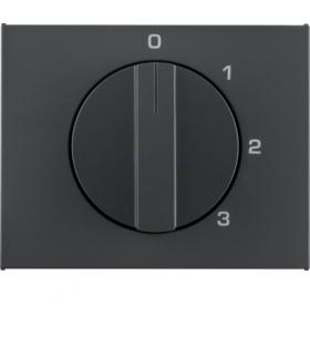 K.1 Płytka czołowa z pokrętłem do łącznika 3-poz. z pozycją zerową antracyt mat Berker 1087710600