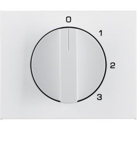K.1 Płytka czołowa z pokrętłem do łącznika 3-poz. z pozycją zerową, biały Berker 1087710900
