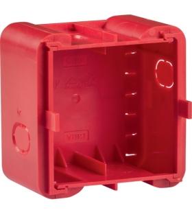 R.8 Puszka 1-krotna podtynkowa do montażu w ścianach litych,  czerwona Berker 18720010