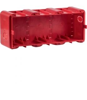 R.8 Puszka 3-krotna podtynkowa do montażu w ścianach litych,  czerwona Berker 18720030