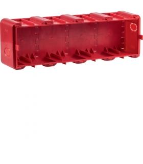 R.8 Puszka 4-krotna podtynkowa do montażu w ścianach litych,  czerwona Berker 18720040