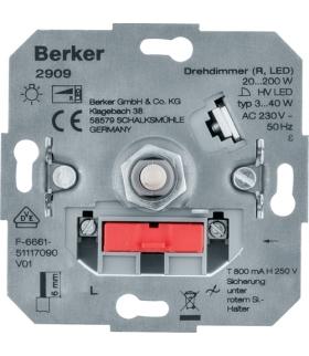 one.platform Ściemniacz obrotowy obciążenie R 20-200 W, LED 3-40 W Berker 2909