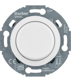 1930/Glas Ściemniacz obrotowy komfort, biały, obc. R/L/C 20-420 W, LED 3-100 W Berker 294410