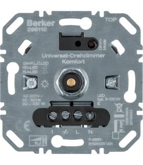 one.platform Ściemniacz obrotowy komfort obciążenie R/L/C 20-420 W, LED 3-100 W Berker 296110