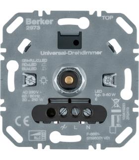 one.platform Ściemniacz obrotowy uniwersalny obc. R/L/C 20-210 W, LED 3-60 W Berker 2973