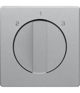 Q.x Płytka czołowa z pokrętłem do łącznika 3-poz. bez pozycji 0 aluminium aksamit Berker 1084608400