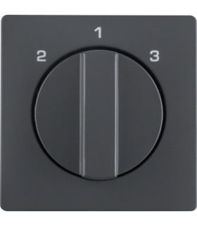 Q.x Płytka czołowa z pokrętłem do łącznika 3-poz. bez pozycji 0 antr. aksamit Berker 1084608600