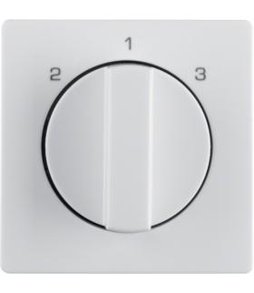 Q.x Płytka czołowa z pokrętłem do łącznika 3-poz. bez pozycji 0 biały aksamit Berker 1084608900