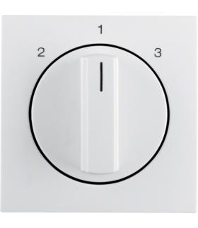 B.Kwadrat Płytka czołowa z pokrętłem do łącznika 3-poz bez pozycji 0 biały poł Berker 1084898900