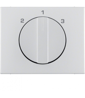 K.5 Płytka czołowa z pokrętłem do łącznika 3-poz. bez pozycji 0 aluminium Berker 1088710300