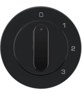 R.1/R.3 Płytka czołowa z pokrętłem do łącznika 3-poz z pozycją 0 czarny połysk Berker 1096204500