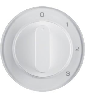 R.1/R.3 Płytka czołowa z pokrętłem do łącznika 3-poz. z pozycją 0 biały połysk Berker 1096208900