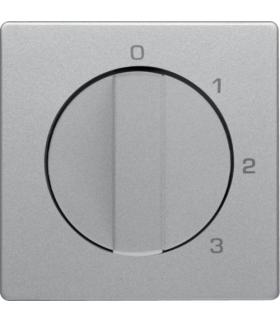 Q.x Płytka czołowa z pokrętłem do łącznika 3-poz. z 0 i nadrukiem aluminium aksamit Berker 1096608400