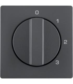Q.x Płytka czołowa z pokrętłem do łącznika 3-poz. z 0 i nadrukiem antr aksamit Berker 1096608600