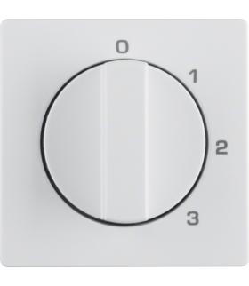Q.x Płytka czołowa z pokrętłem do łącznika 3-poz z 0 i nadrukiem biały aksamit Berker 1096608900