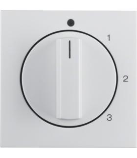 B.Kwadrat Płytka czołowa z pokrętłem do łącznika 3-poz. z 0 biały połysk Berker 1096898900