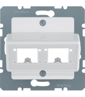 B.Kwadrat Płytka czołowa do 1 lub 2 modułów 1-kr Reichle De-Massari, biały Berker 147209