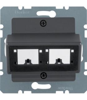 B.X Płytka czołowa do 1 lub 2 modułów 1-kr R De-M, antracyt mat, lak Berker 14721606