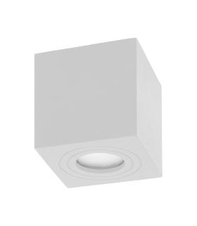 MEGY DLS GU10 Oprawa sufitowa do łazienki, hermetyczna, IP54, kwadrat, biały, aluminium