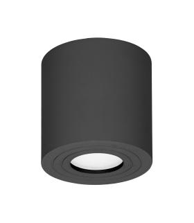 MEGY DLR GU10 Oprawa sufitowa do łazienki, hermetyczna, IP54, OKRĄGŁA, CZARNA, aluminium