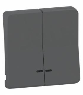 Mureva klawisz podwójny z okienkiem antracyt Schneider MUR34205