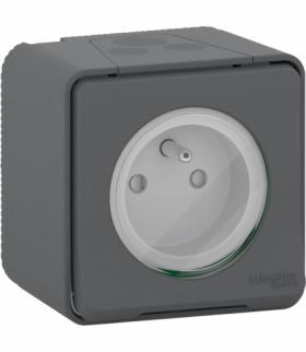 Mureva gniazdo 2P+PE zaciski śrubowe antracyt Schneider MUR36030