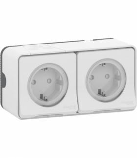 Mureva gnizado 2x2P+PE schuko podwójne biały Schneider MUR39035
