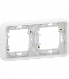 Mureva podstawa podtynkowa 2x pozioma biała Schneider MUR39101
