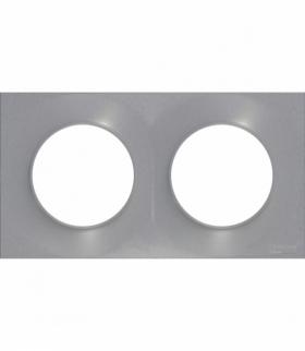 Odace Styl ramka 2-krotna (DIY) aluminium Schneider S52P704E