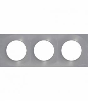 Odace Styl ramka 3-krotna (DIY) aluminium Schneider S52P706E