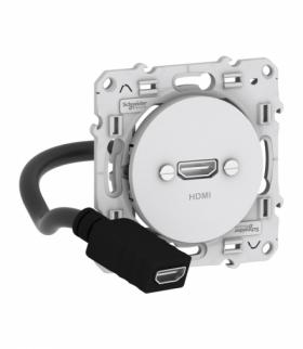Odace Gniazdo HDMI, biały Schneider S520462