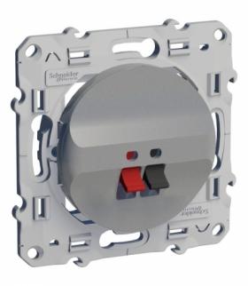 Odace Gniazdo głośnikowe, aluminium Schneider S530487