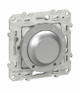 Odace Termostat elektroniczny, obrotowy,  aluminium Schneider S530501