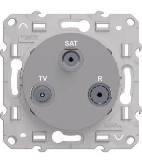 Odace Gniazdo R/TV/SAT końcowe, aluminium Schneider S530461