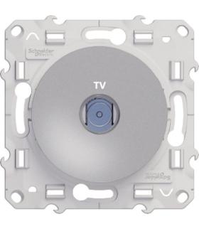 Odace Gniazdo TV końcowe, aluminium Schneider S530445