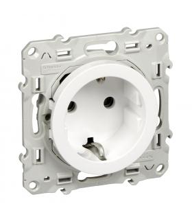 Odace Gniazdo schuko zaciski śrubowe, biały Schneider S520037
