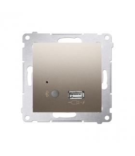 Odbiornik Bluetooth z ładowarką USB złoty mat, metalizowany D7501385.01/44
