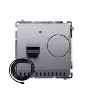 Regulator temperatury z wyświetlaczem z czujnikiem zewnętrzym (sonda) inox, metalizowany BMRT10ZS.02/21