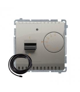 Regulator temperatury z wyświetlaczem z czujnikiem zewnętrzym (sonda) satynowy, metalizowany BMRT10ZS.02/29