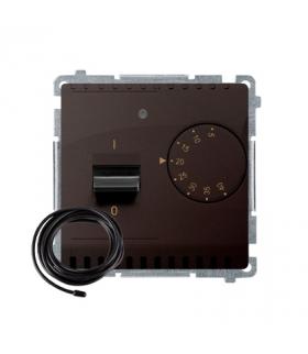 Regulator temperatury z wyświetlaczem z czujnikiem zewnętrzym (sonda) czekoladowy mat, metalizowany BMRT10ZS.02/47