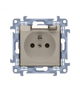 Gniazdo wtyczkowe pojedyncze do wersji IP44 - bez uszczelki - klapka transparentna kremowy 16A CGZ1BU.01/41A