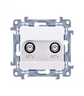 Gniazdo antenowe RTV-RTV końcowe biały CAK2F.01/11
