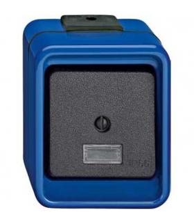 Merten natynkowy Łącznik schodowy IP66 niebieski