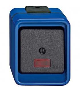 Merten Przycisk natynkowy IP55 niebiesko-czarny