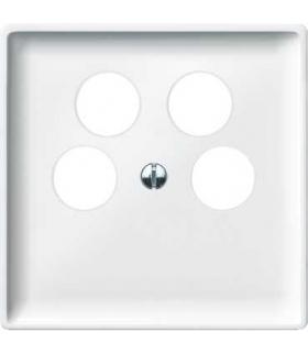 Merten Płytka centralna gniazda TV czterootworowa System Design biały polarny